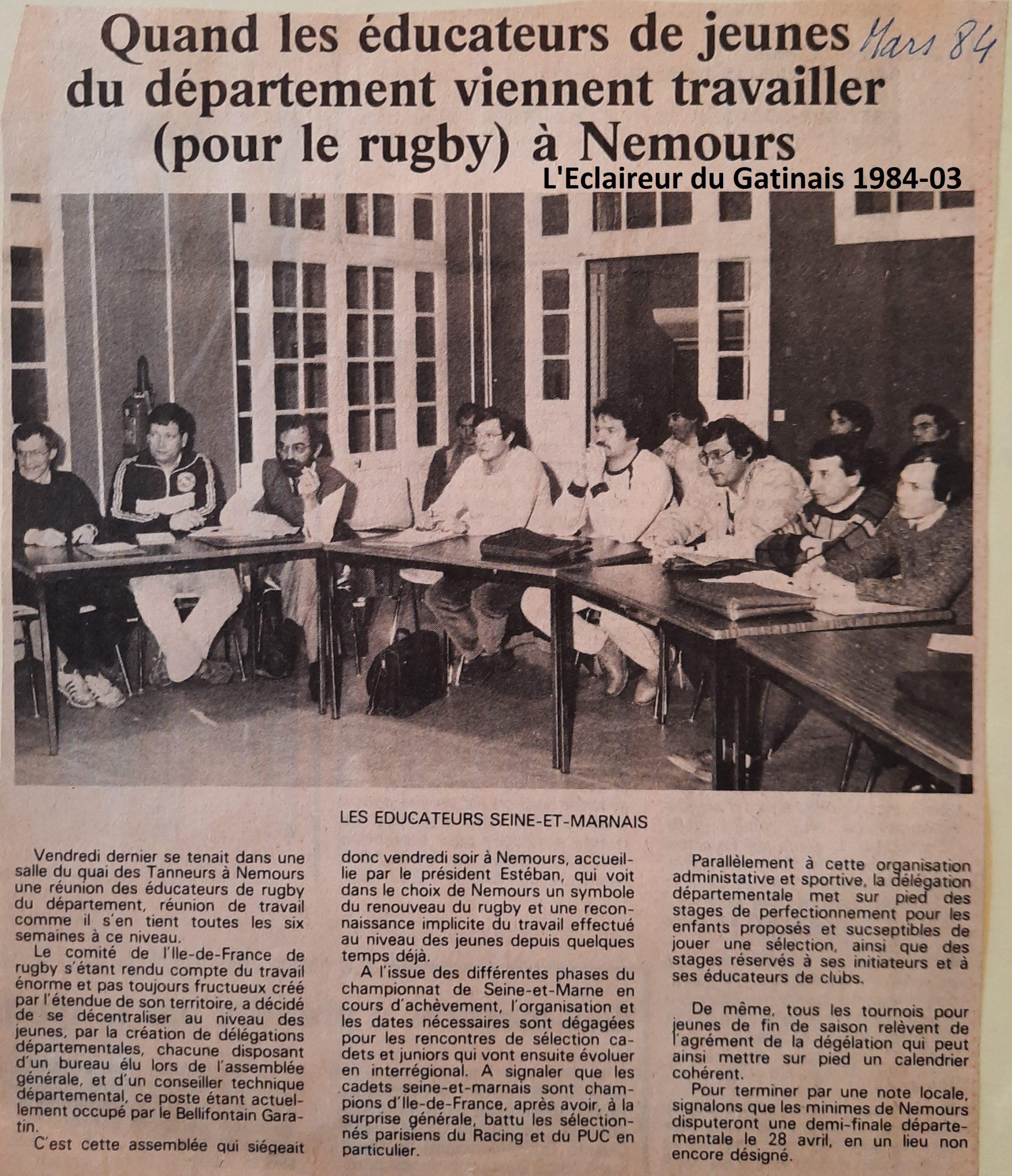Eclaireur du Gâtinais 1984-03