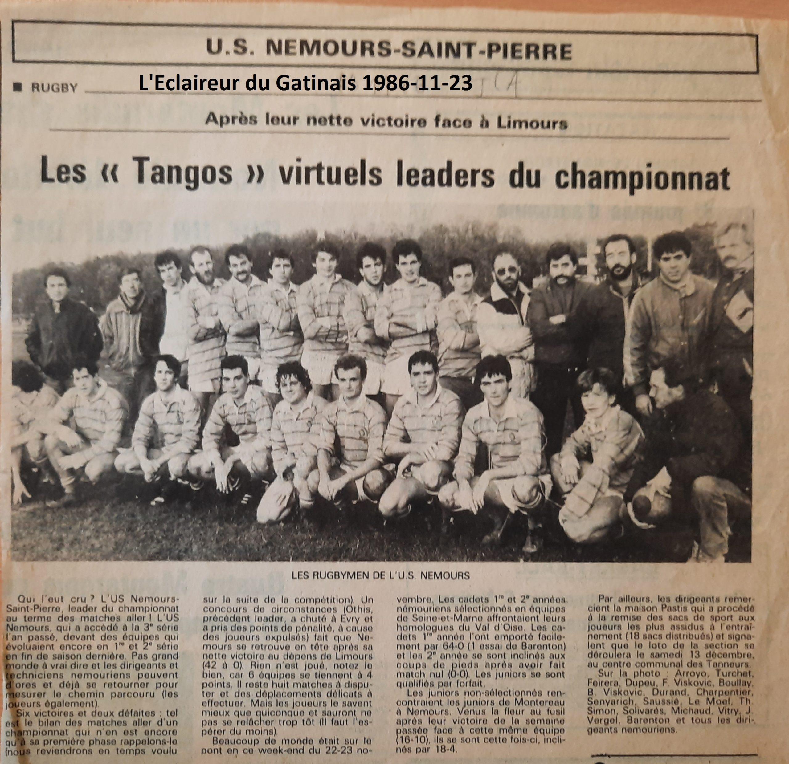 Eclaireur du Gâtinais 1986-11-23
