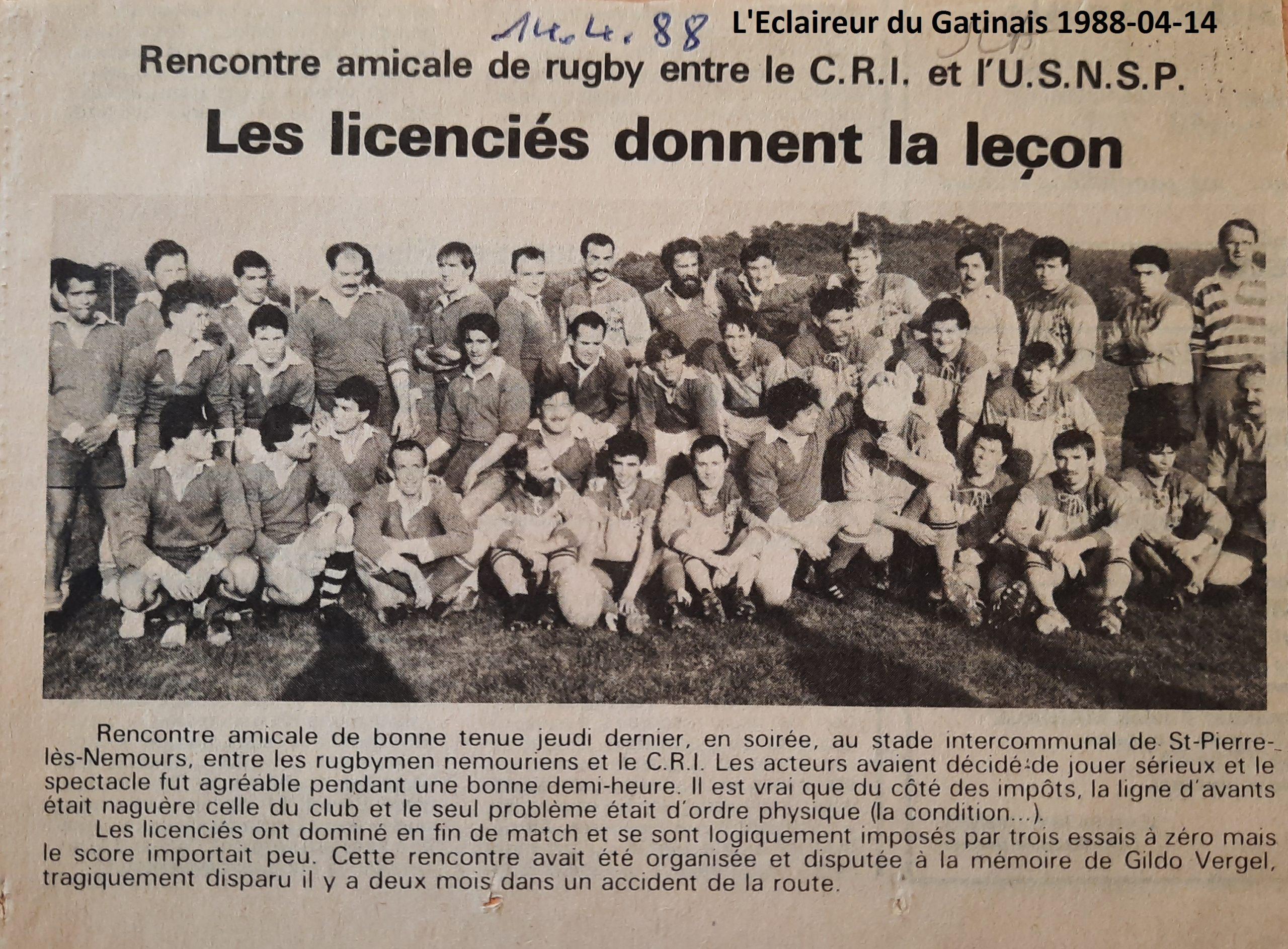 Eclaireur du Gâtinais 1988-04-14