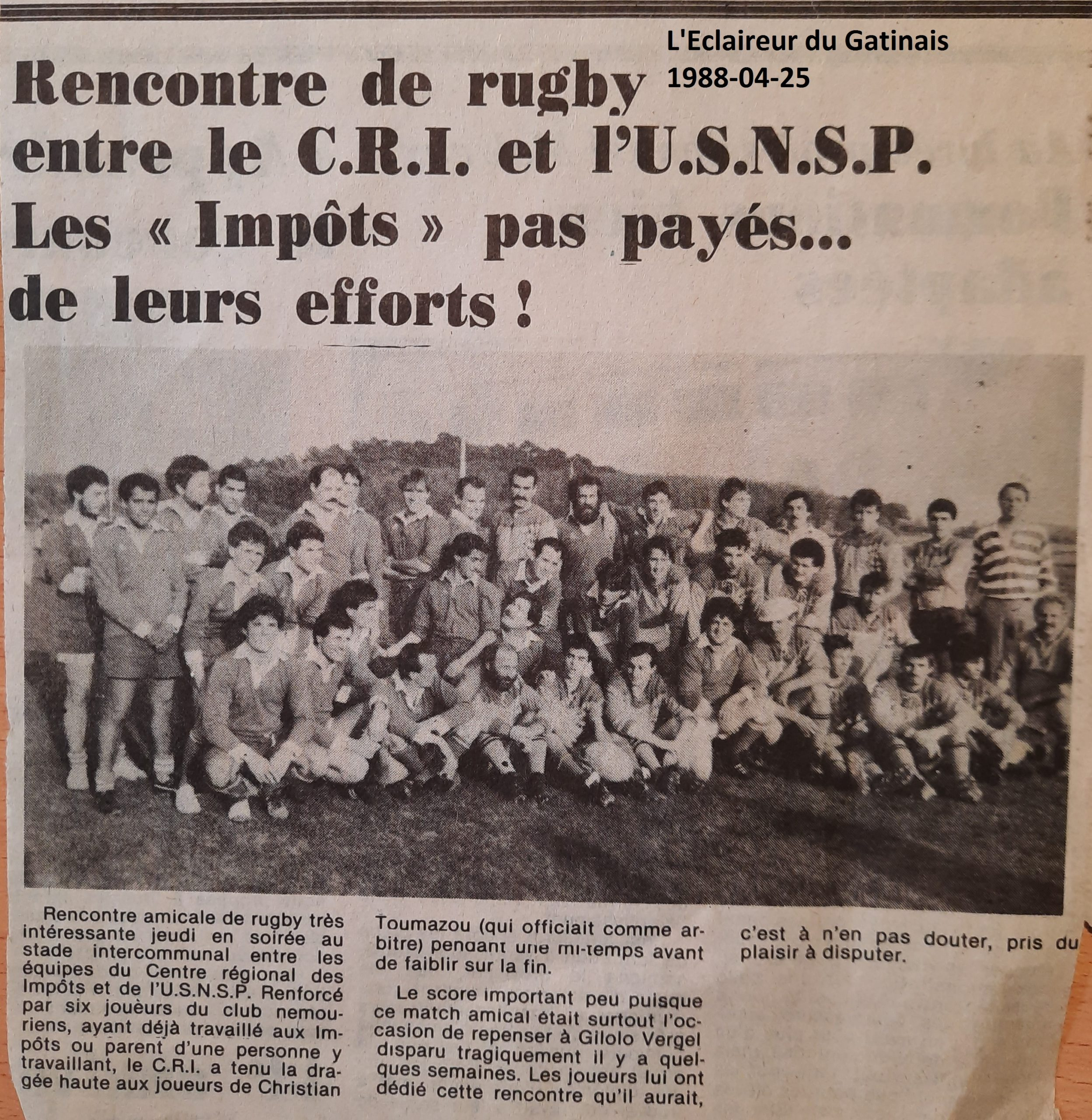 Eclaireur du Gâtinais 1988-04-25