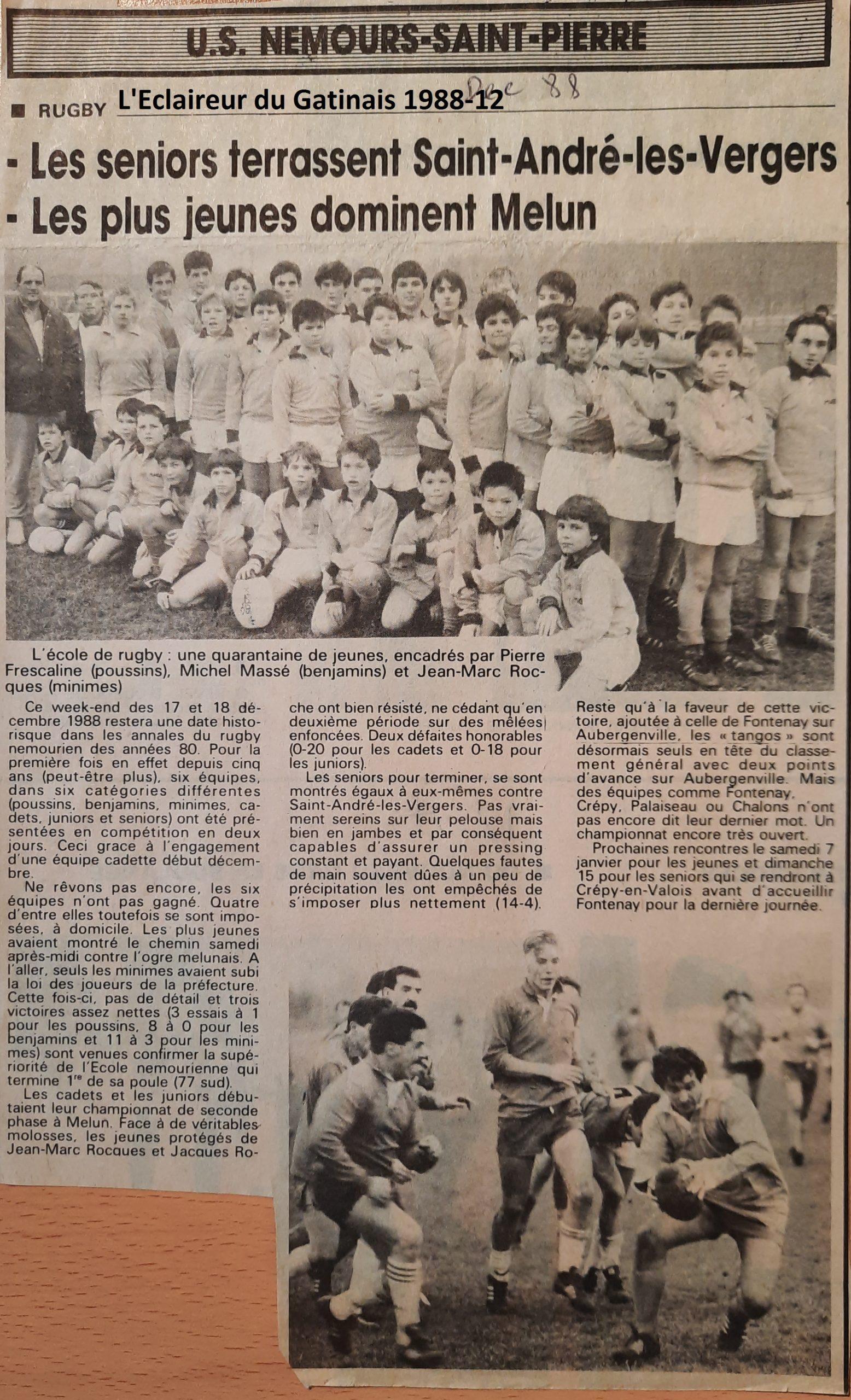 Eclaireur du Gâtinais 1988-12