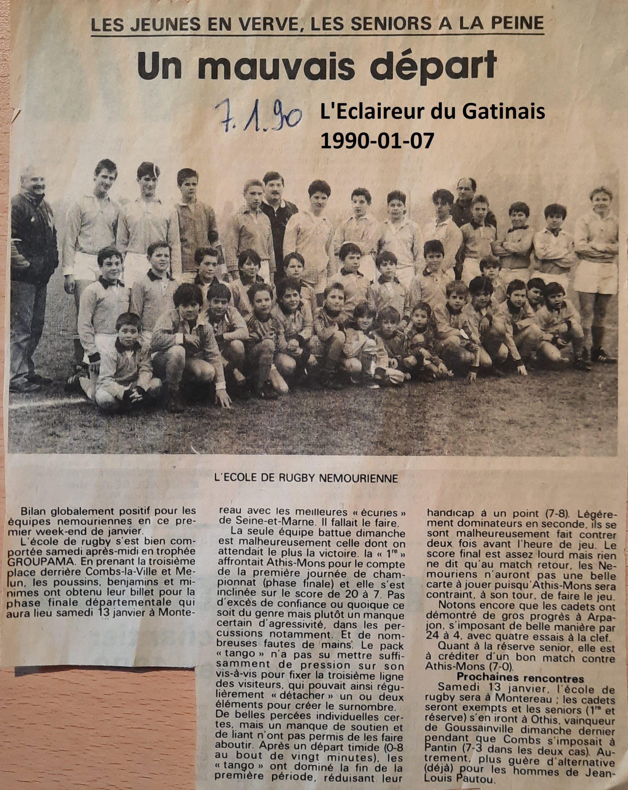 Eclaireur du Gâtinais 1990-01-07