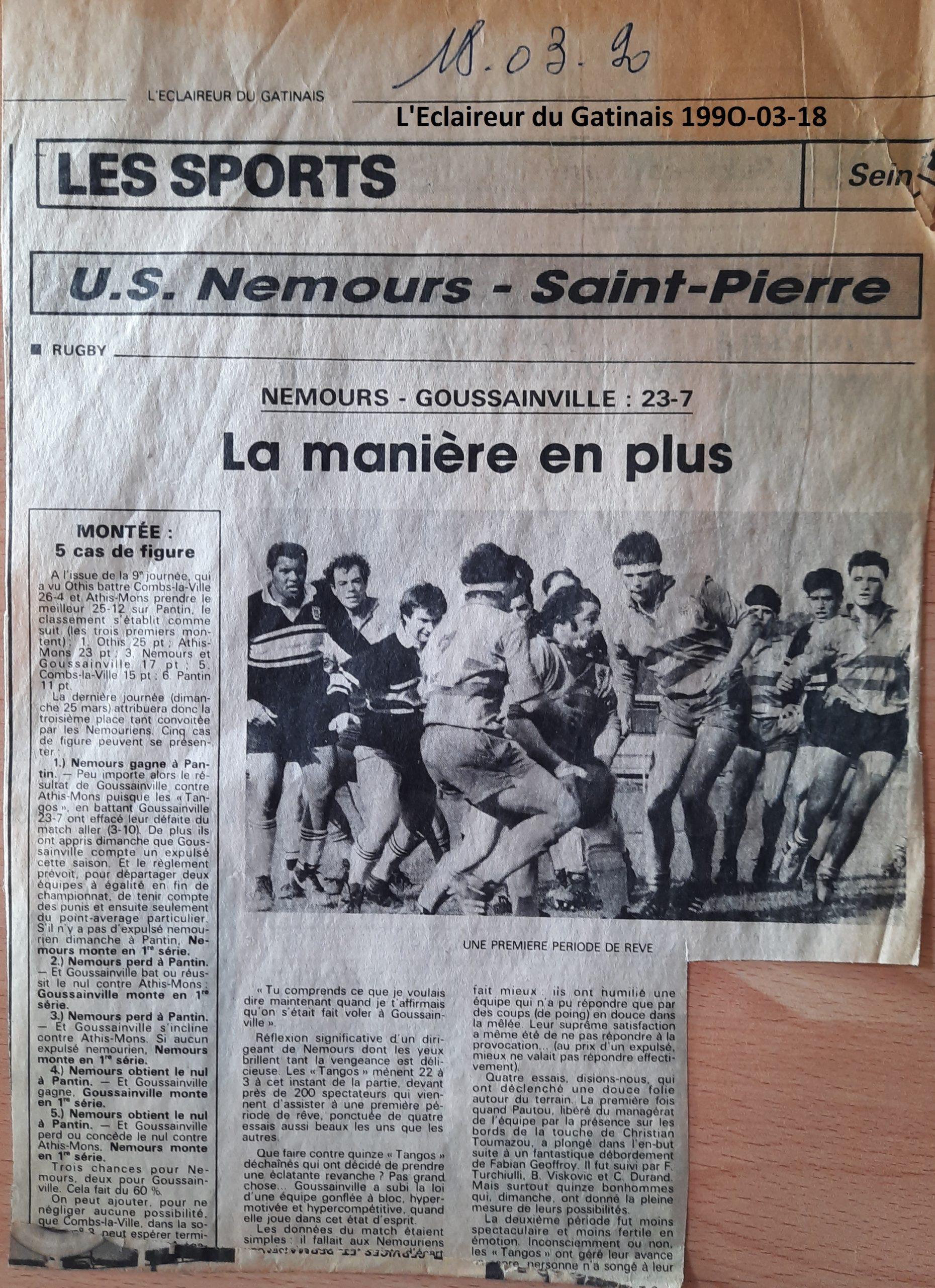 Eclaireur du Gâtinais 1990-03-18