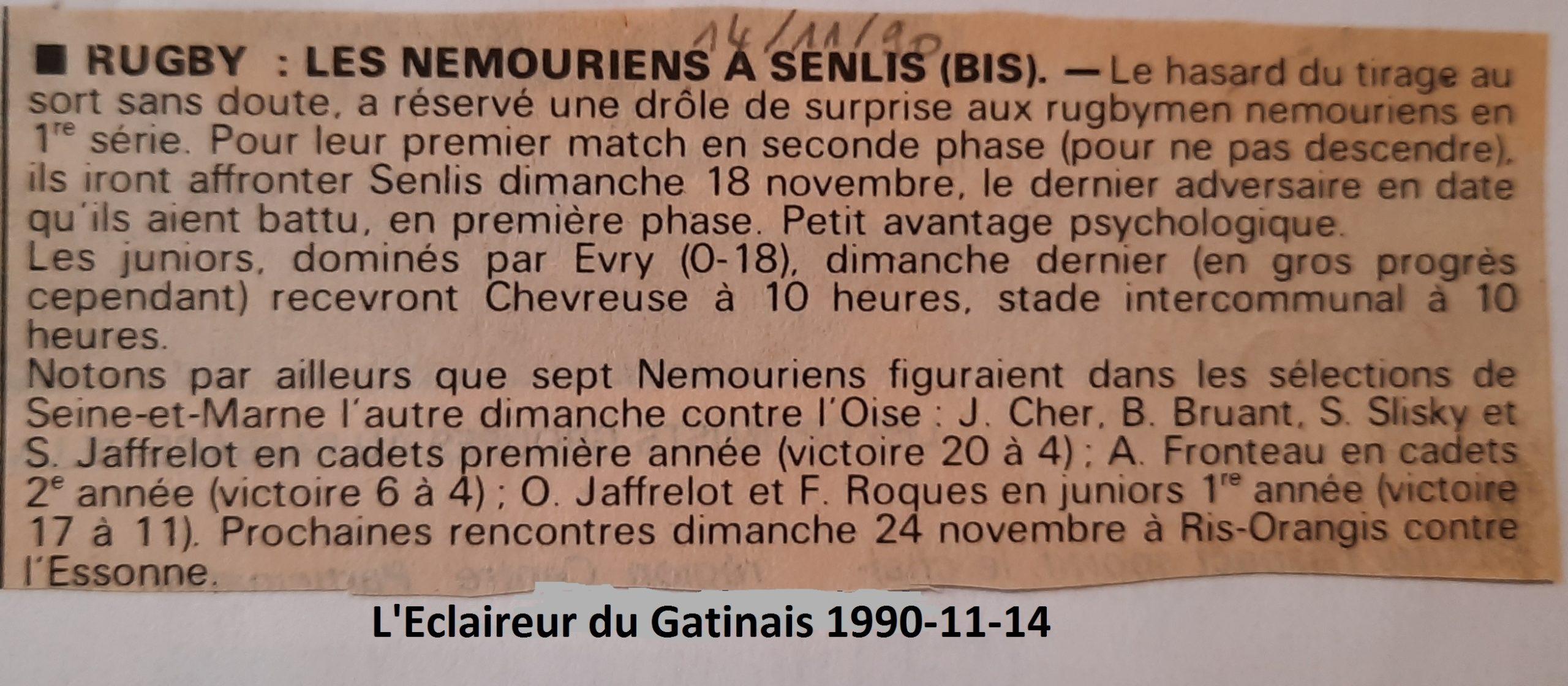 Eclaireur du Gâtinais 1990-11-14