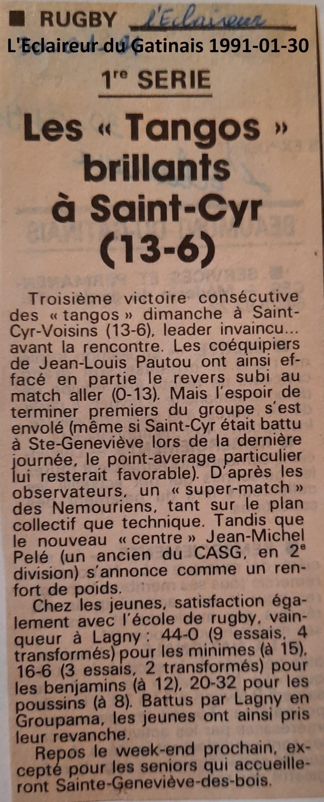 Eclaireur du Gâtinais 1991-01-30
