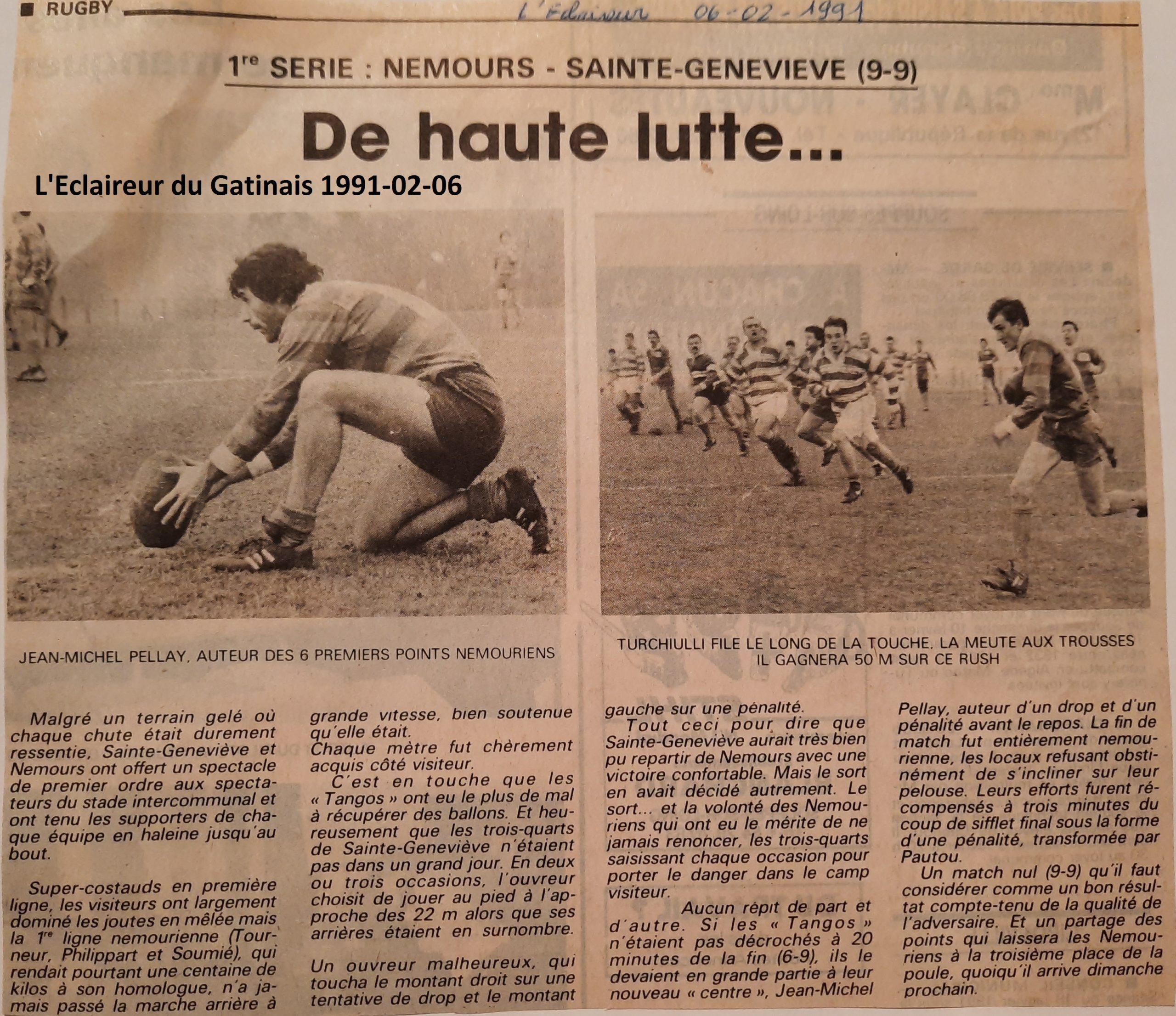 Eclaireur du Gâtinais 1991-02-06