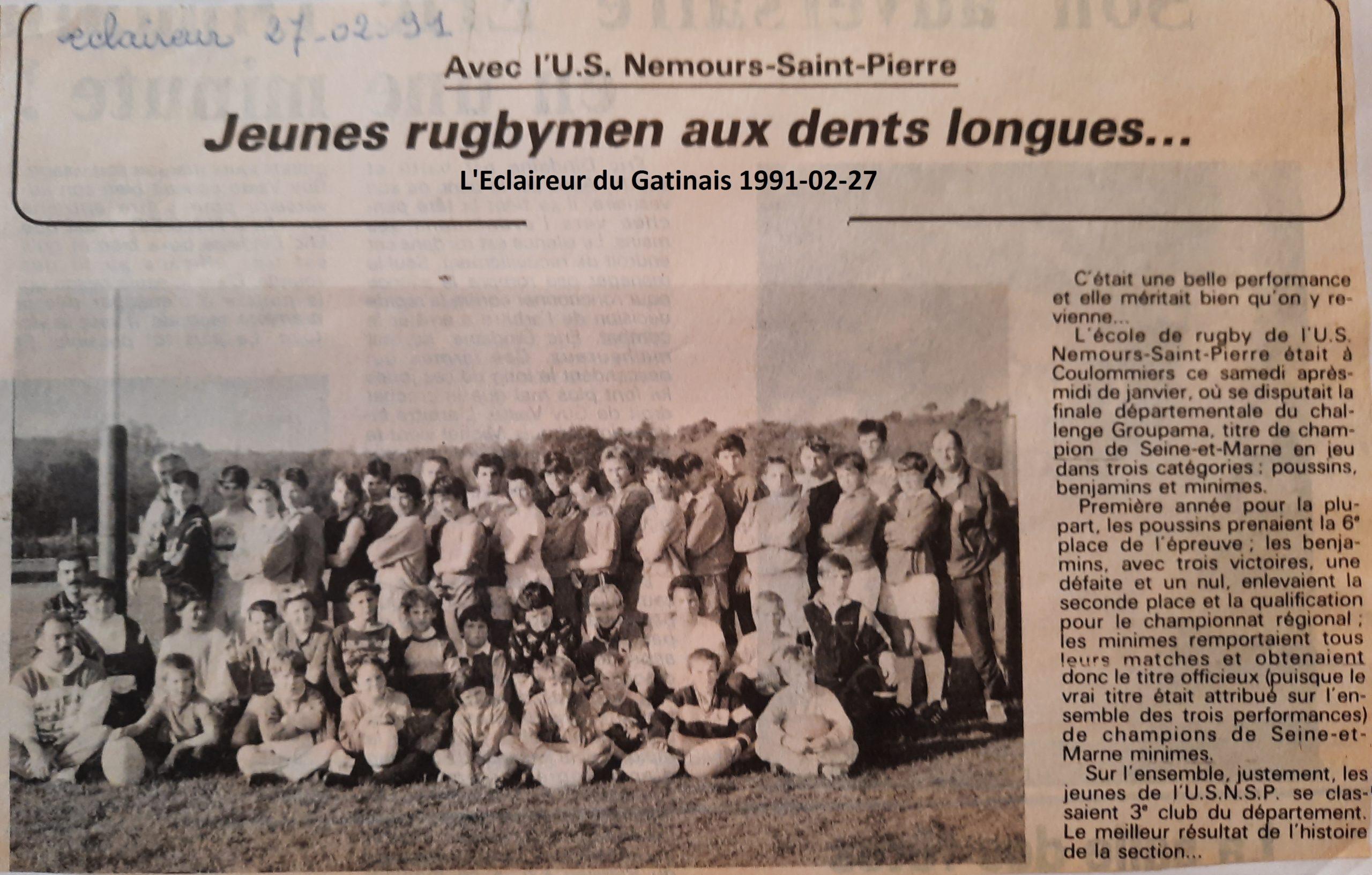 Eclaireur du Gâtinais 1991-02-27