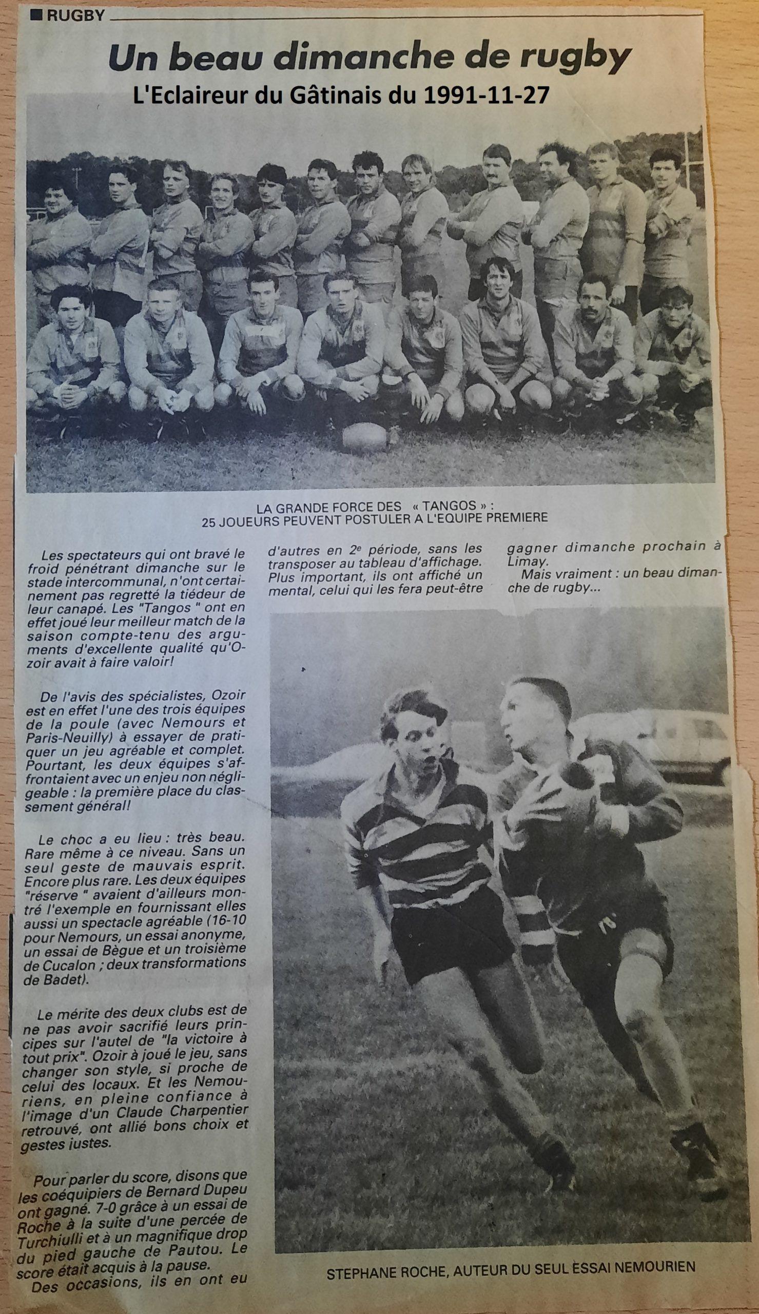 Eclaireur du Gâtinais 1991-11-27