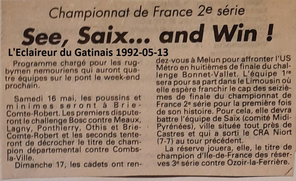 Eclaireur du Gâtinais 1992-05-13