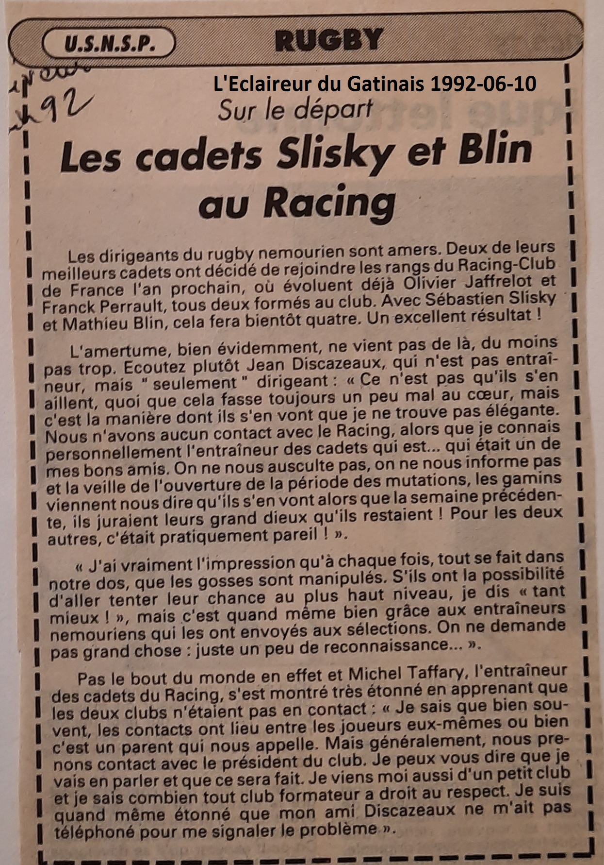 Eclaireur du Gâtinais 1992-06-10