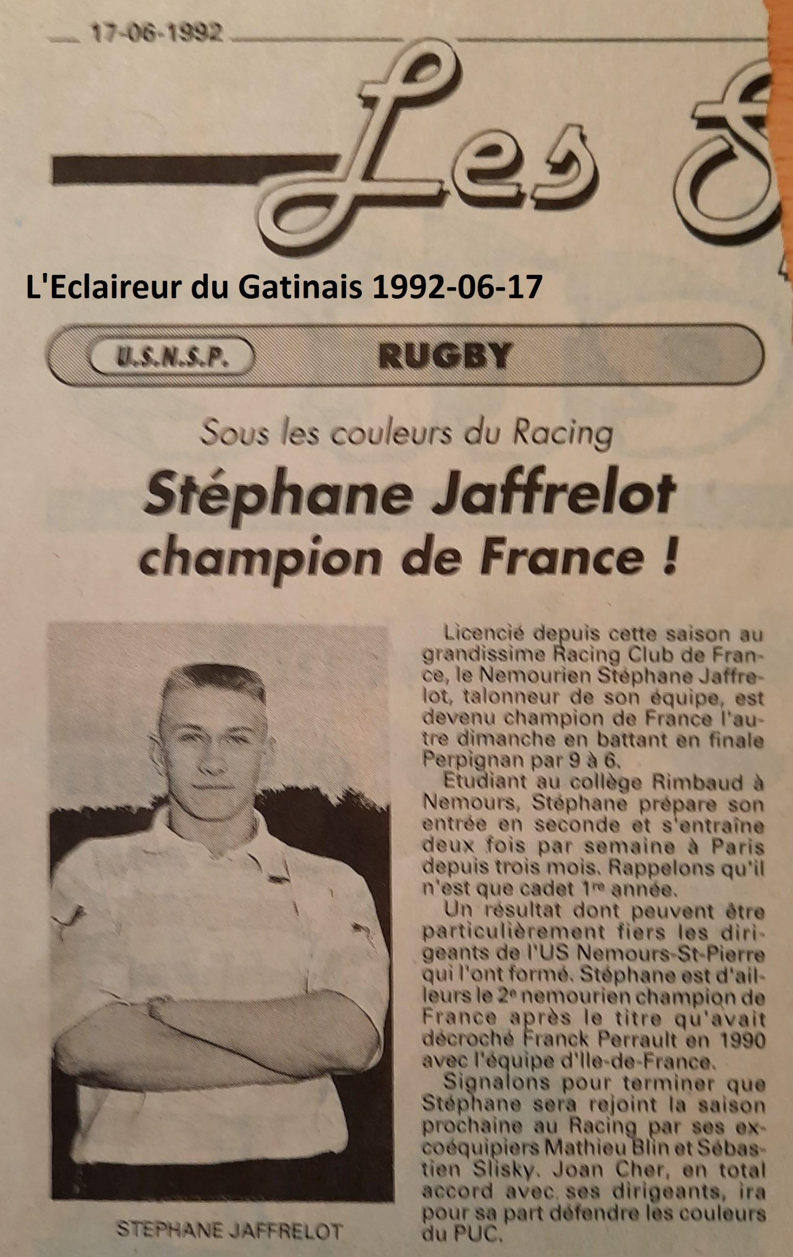 Eclaireur du Gâtinais 1992-06-17