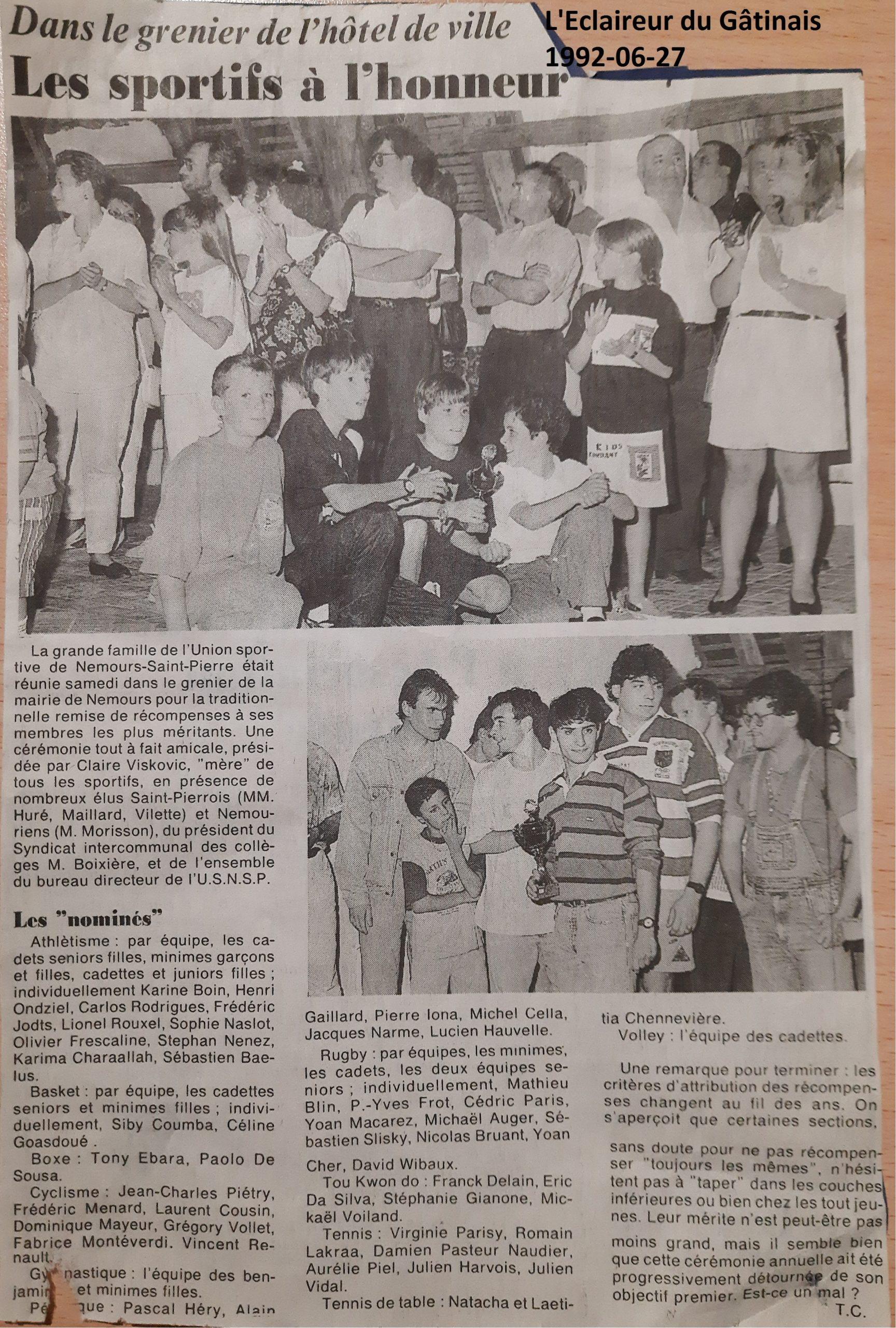 Eclaireur du Gâtinais 1992-06-27