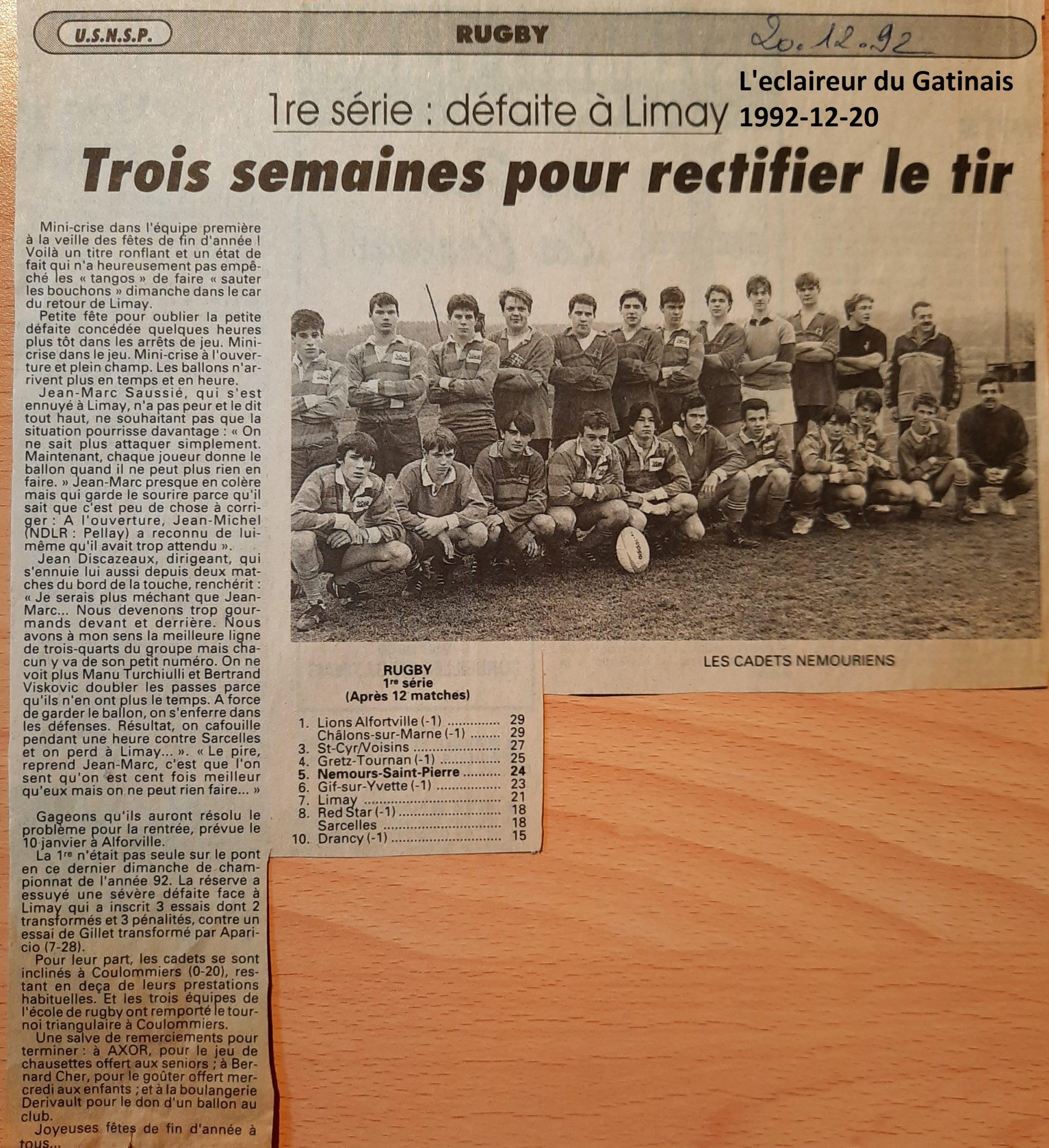 Eclaireur du Gâtinais 1992-12-20