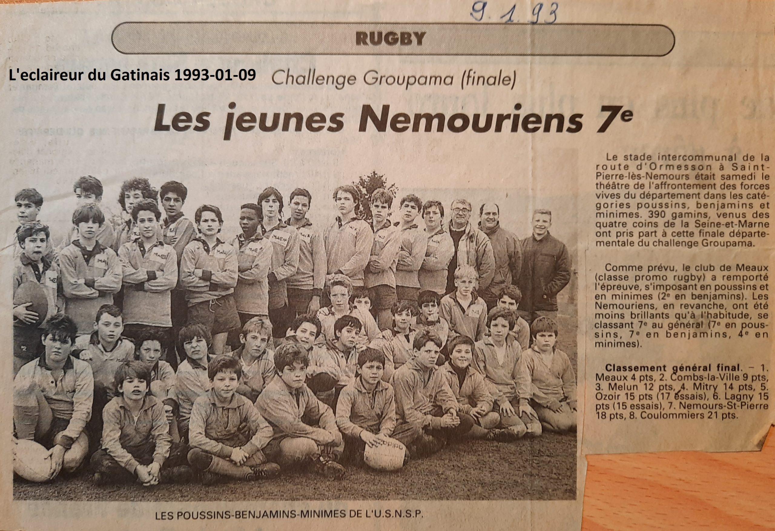 Eclaireur du Gâtinais 1993-01-09