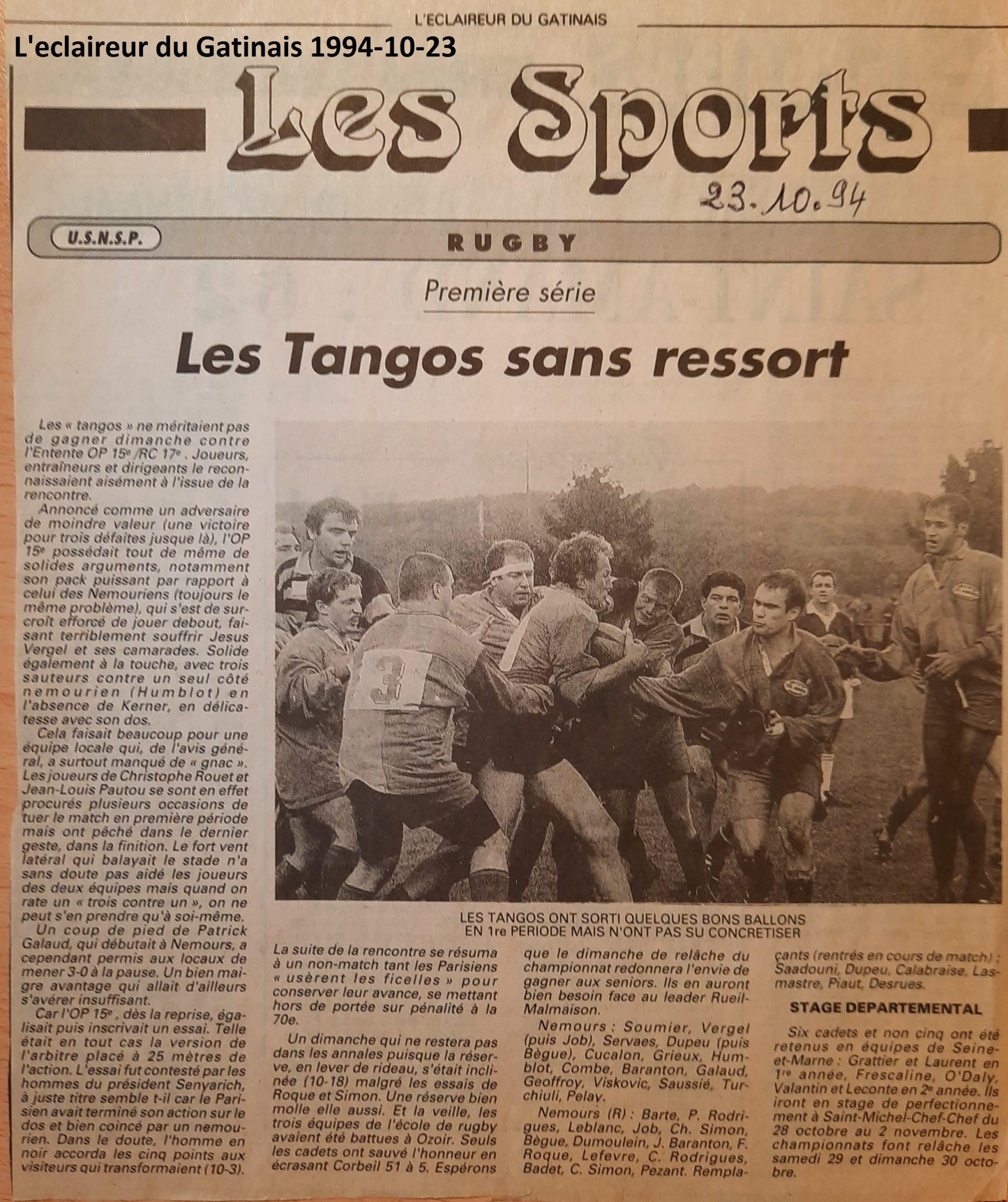 Eclaireur du Gâtinais 1994-10-23