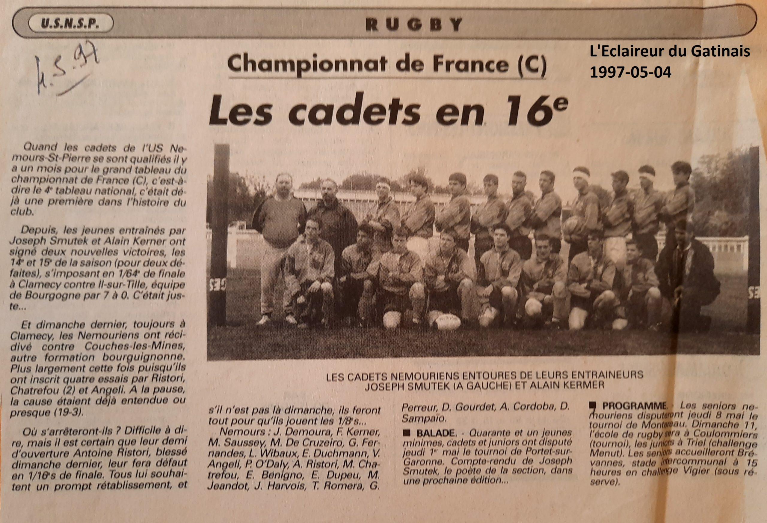 Eclaireur du Gâtinais 1997-05-04