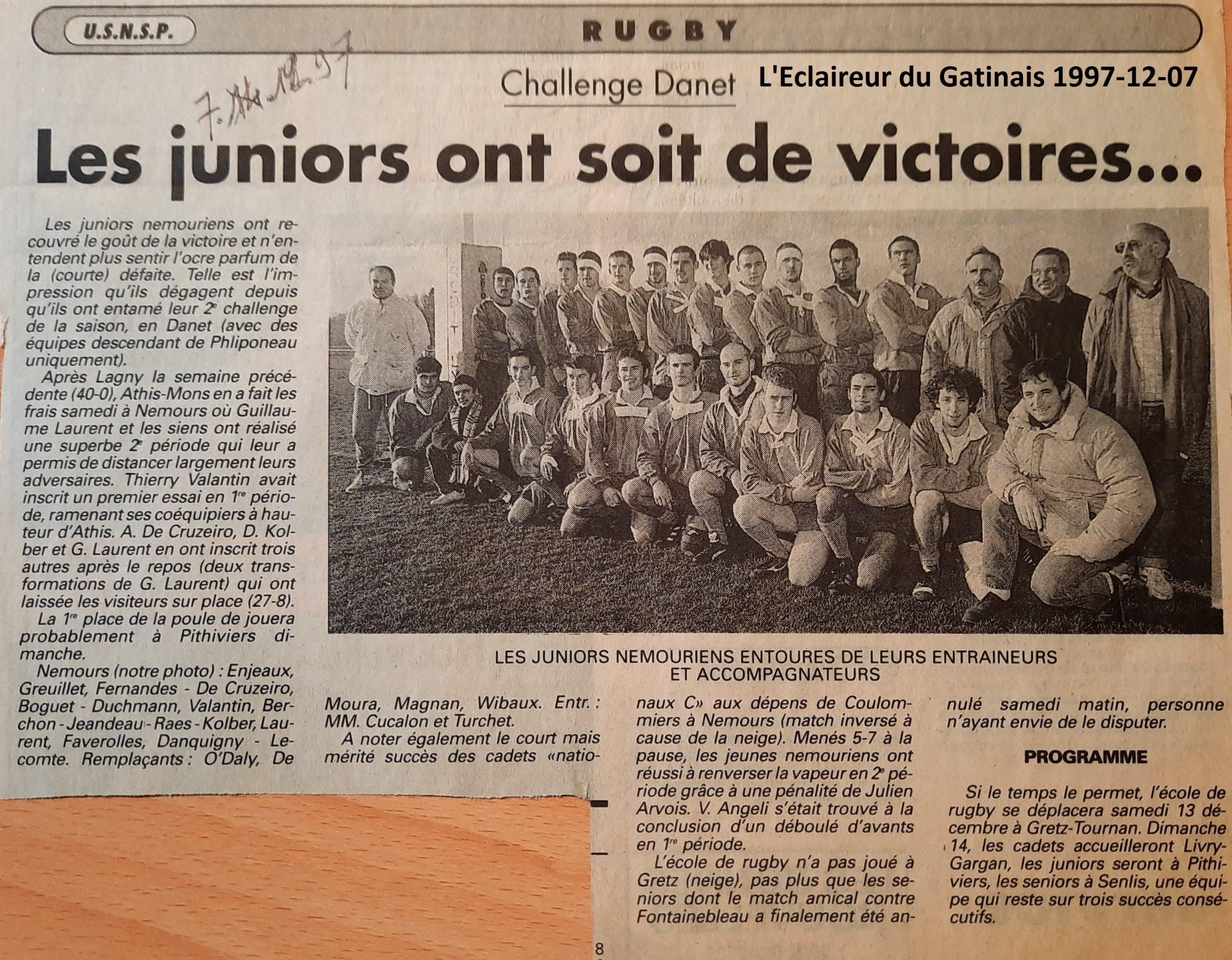 Eclaireur du Gâtinais 1997-12-07