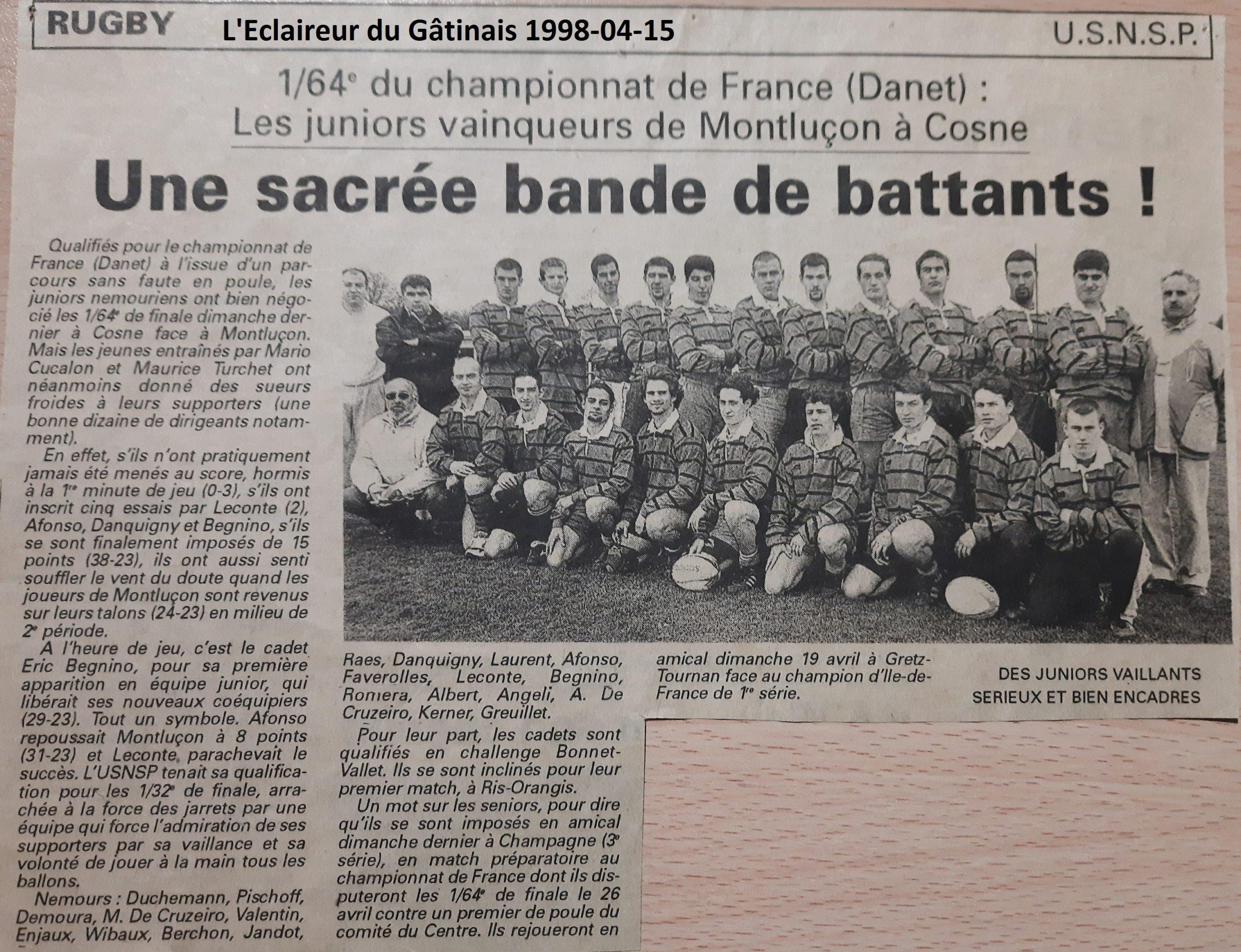 Eclaireur du Gâtinais 1998-04-15