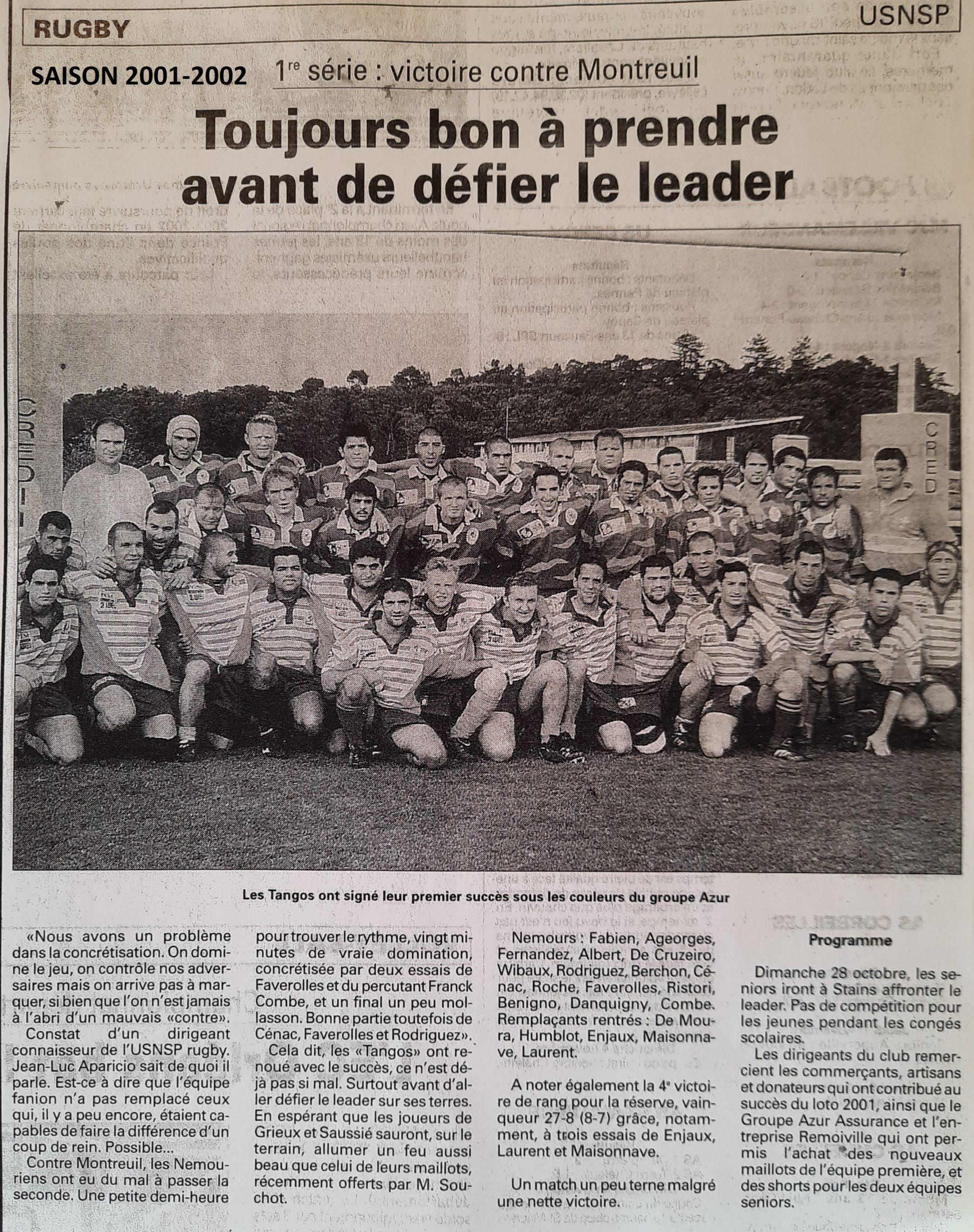 Eclaireur du Gâtinais 2001-10-24
