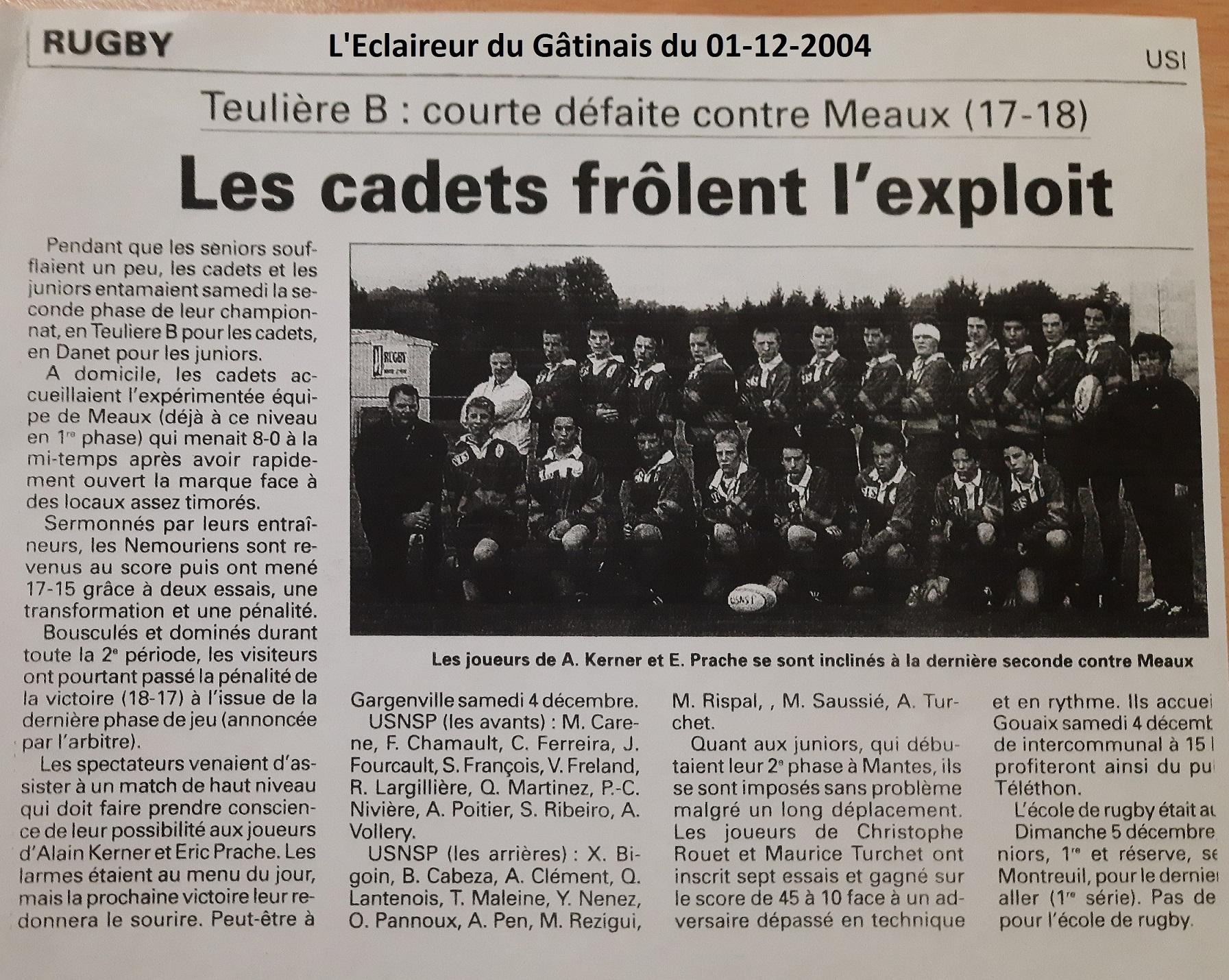 Eclaireur du Gâtinais 2004-12-01