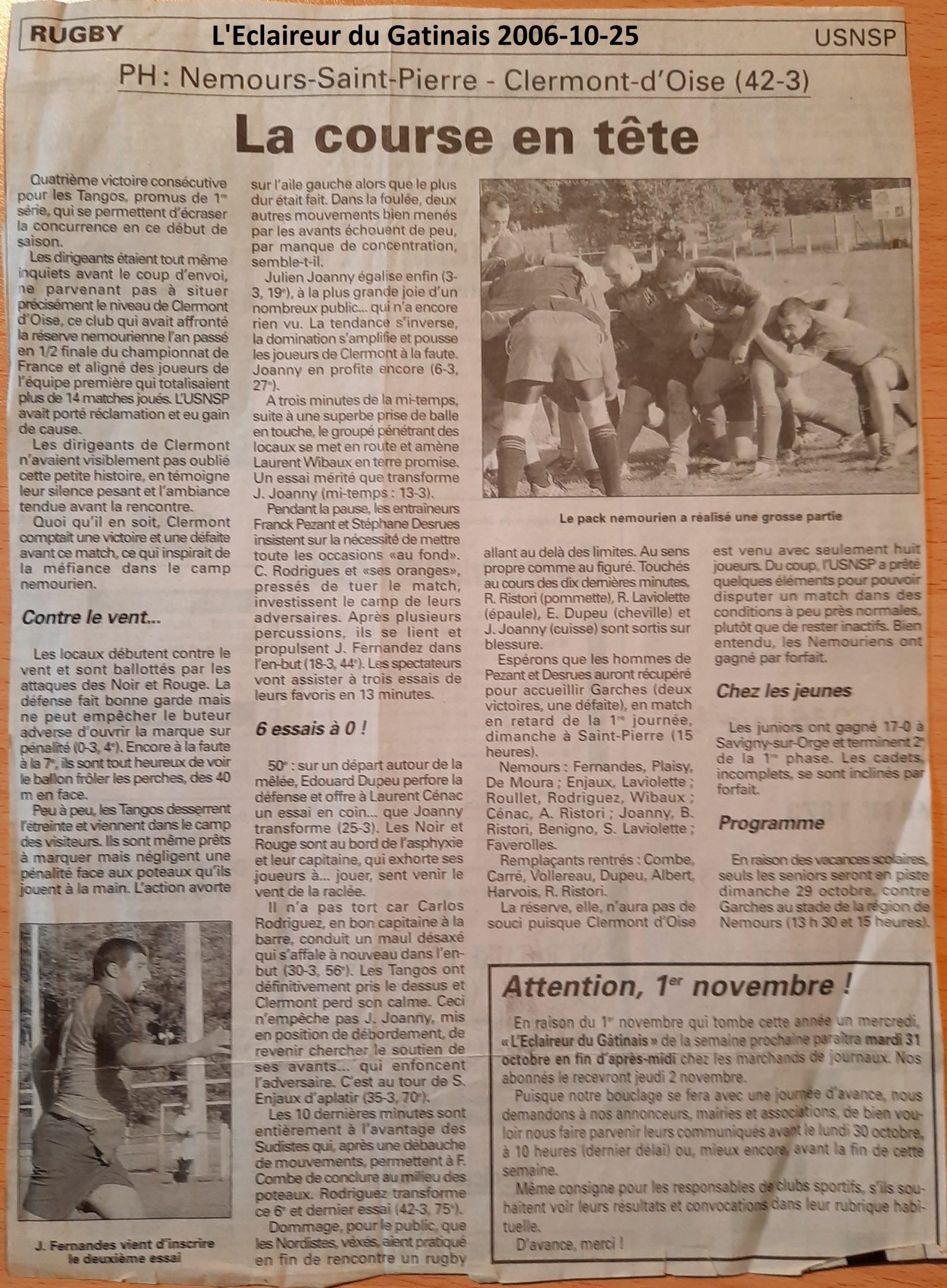 Eclaireur du Gâtinais 2006-10-25