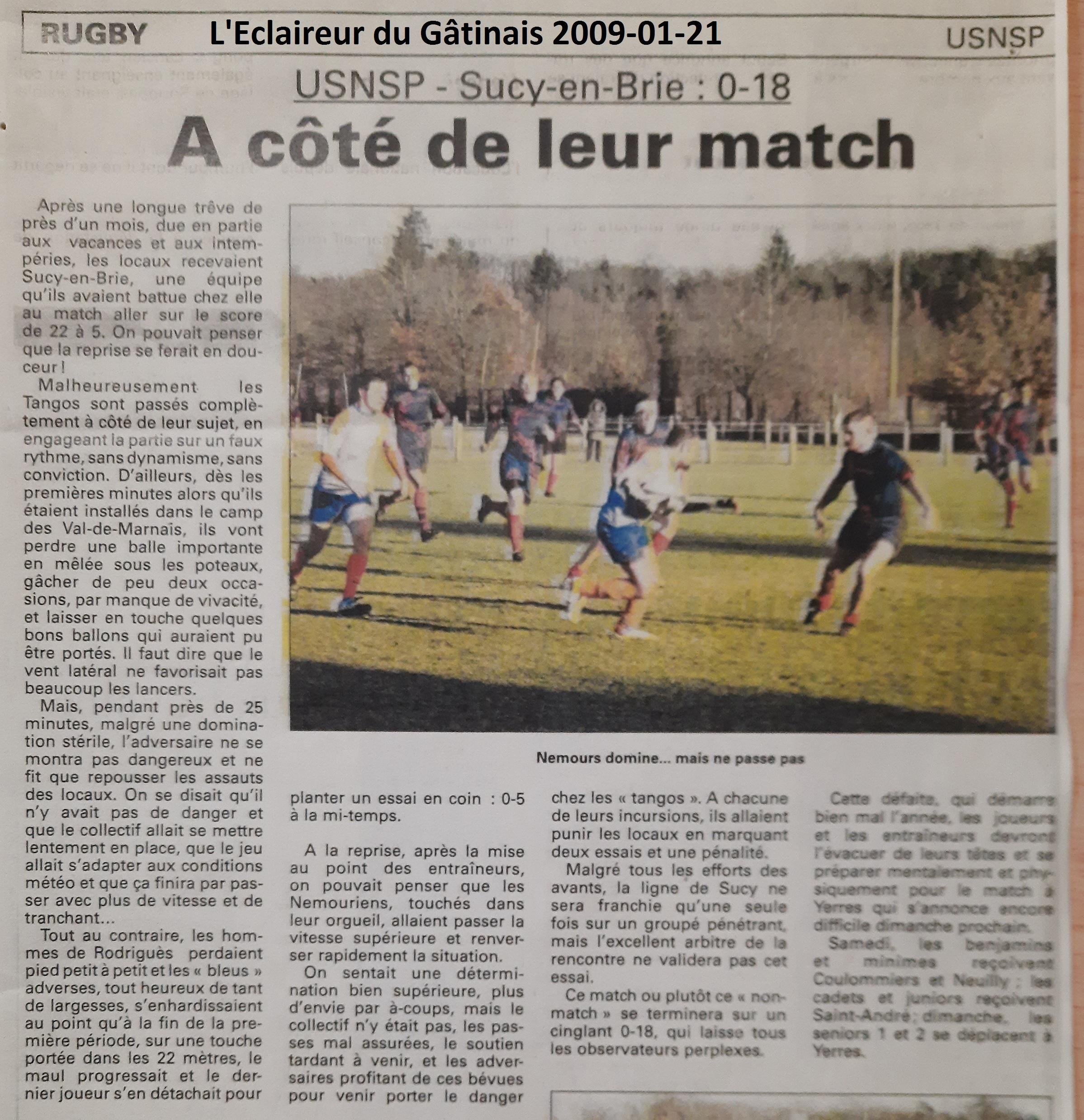 Eclaireur du Gâtinais 2009-01-21