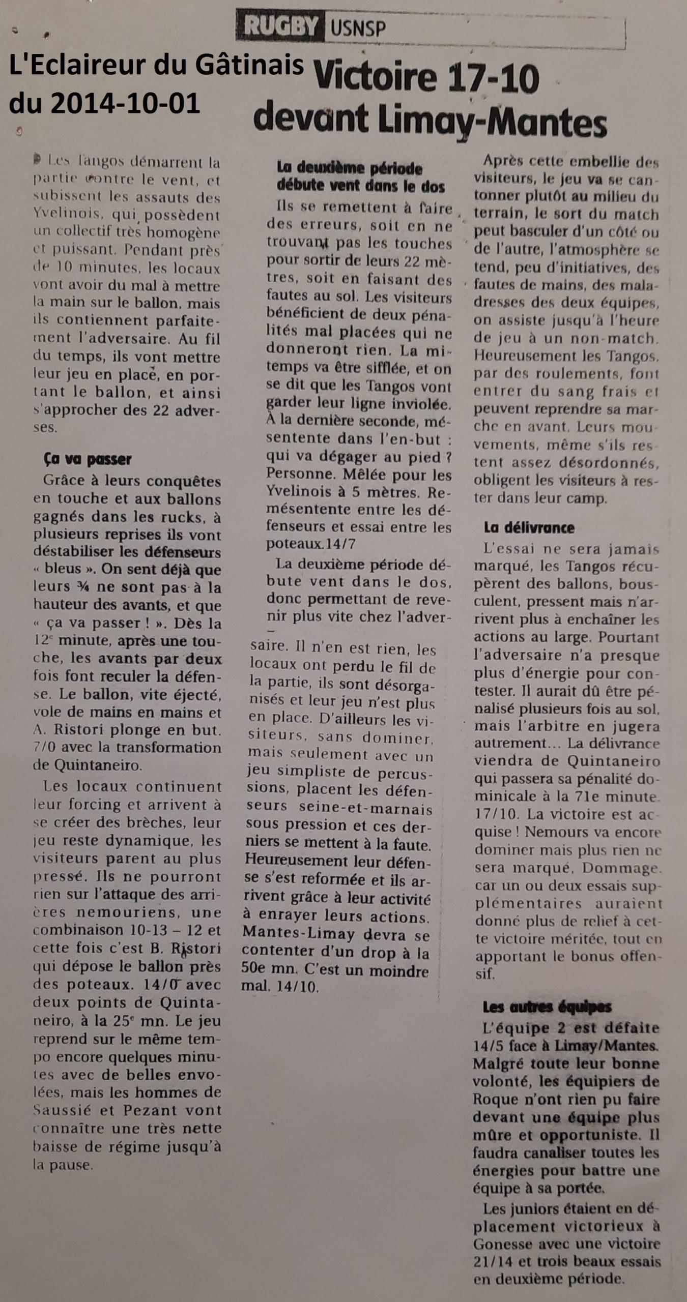 Eclaireur du Gâtinais 2014-10-01