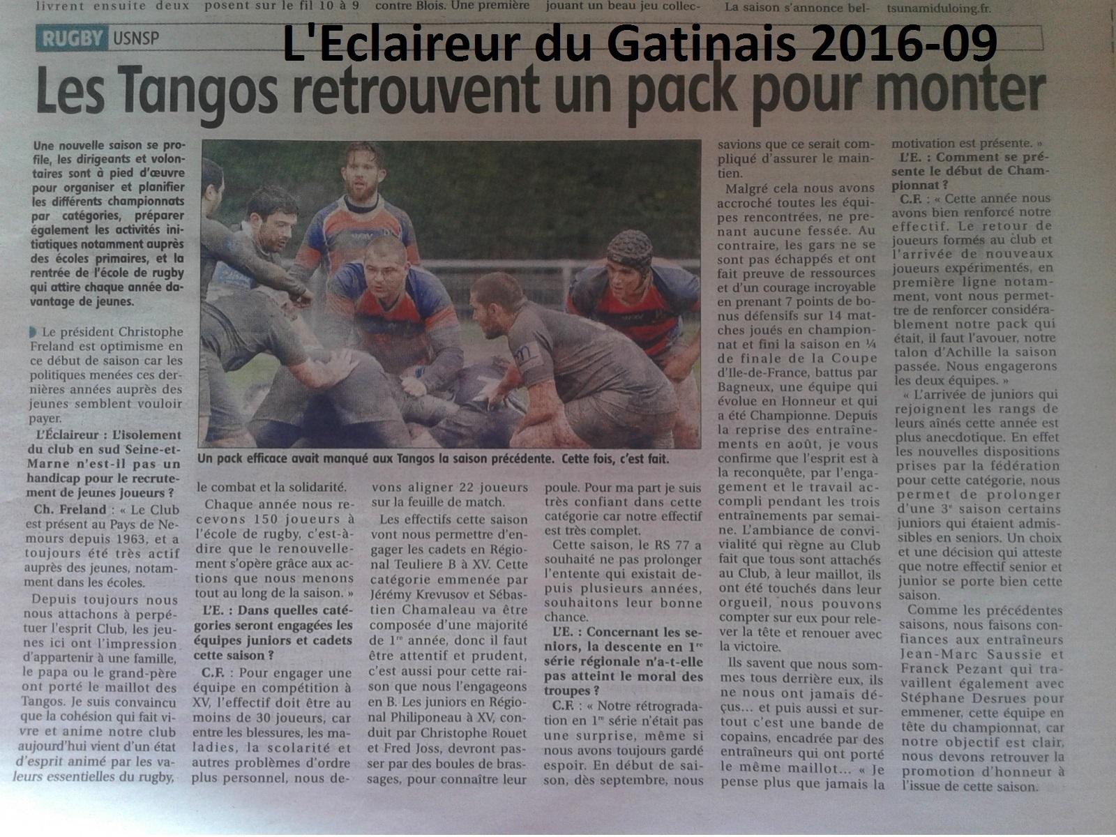 Eclaireur du Gatinais 2016-09