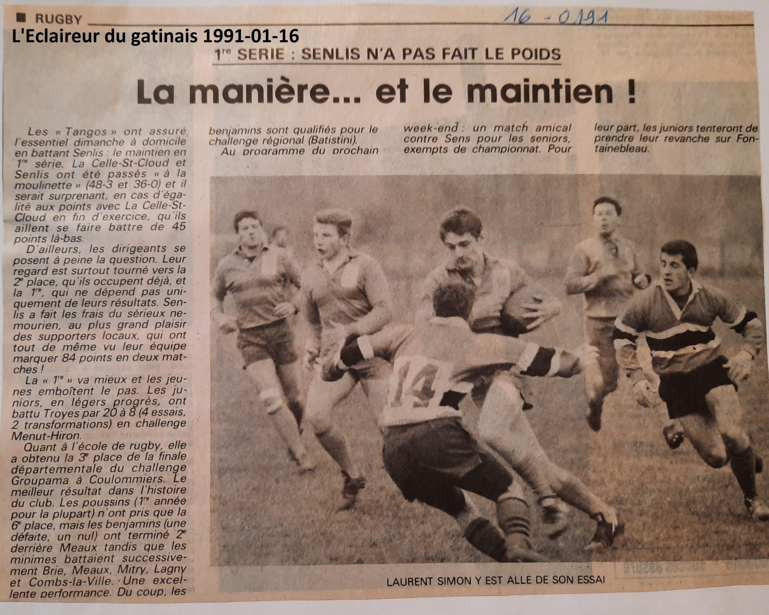 Eclaireur du gâtinais 1991-01-16
