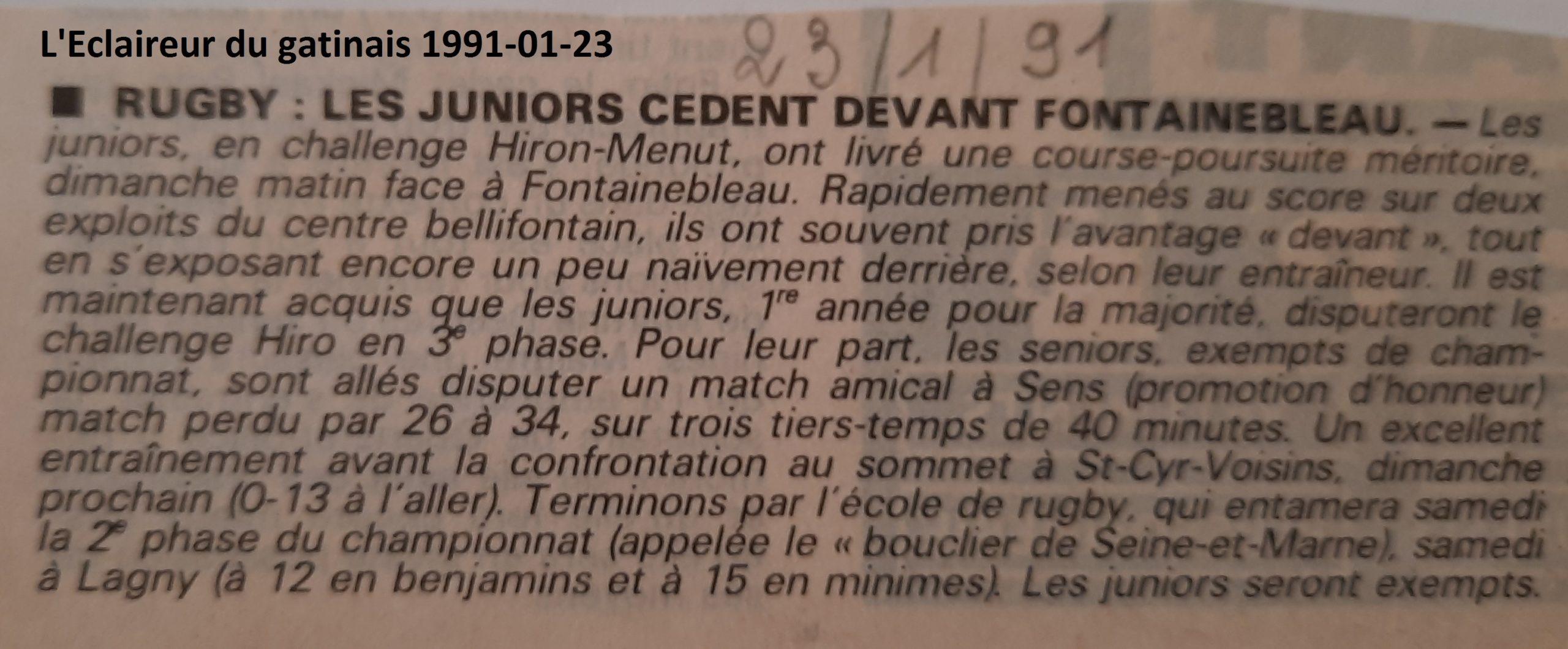 Eclaireur du gâtinais 1991-01-23