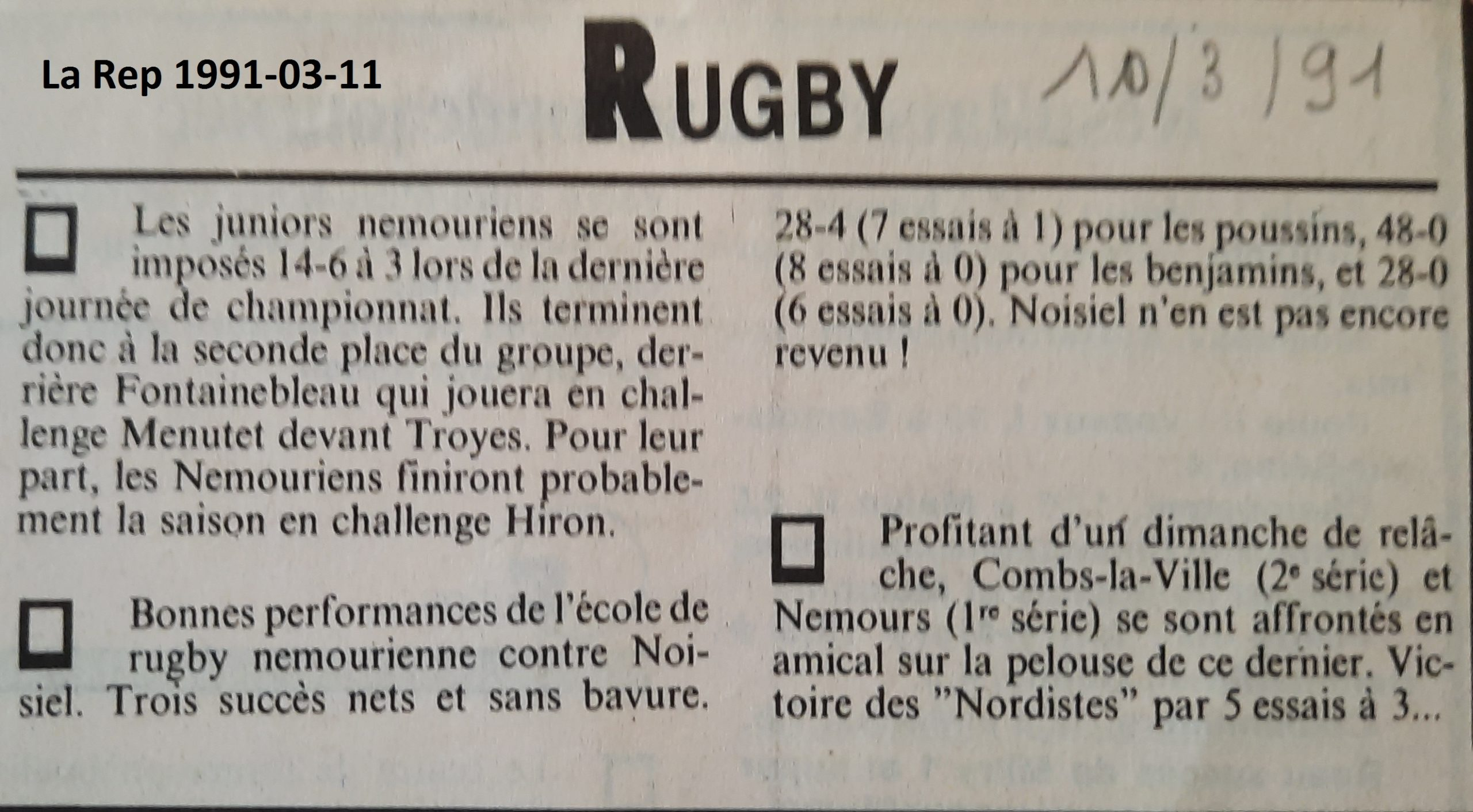 La République 1991-03-11